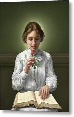 Helen Keller Metal Print