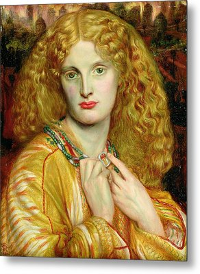 Helen Of Troy Metal Print by Dante Charles Gabriel Rossetti