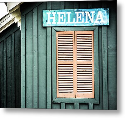 Metal Print featuring the photograph Helena Sign On A Spring Day by Parker Cunningham