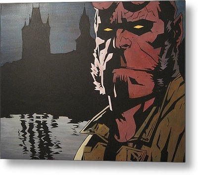 Hellboy  Metal Print by Jackie Davenport