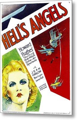 Hells Angels, Jean Harlow On Window Metal Print by Everett