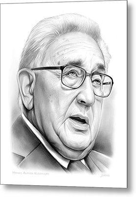 Henry Kissinger Metal Print by Greg Joens