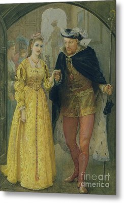 Henry Viii And Anne Boleyn  Metal Print by Arthur Hopkins