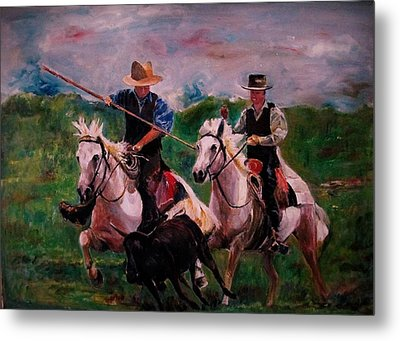 Herdsmen Metal Print by Khalid Saeed
