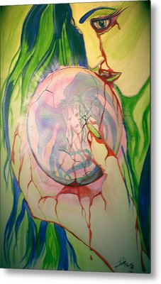 Metal Print featuring the painting Heroin by Tbone Oliver