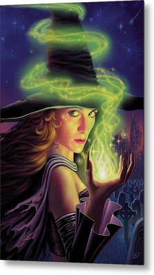 Hex Of The Wicked Witch Metal Print by Philip Straub
