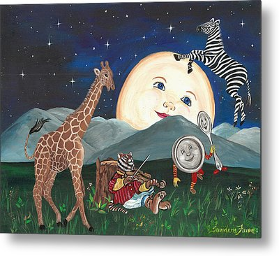 Hey Diddle Diddle Metal Print by Sundara Fawn