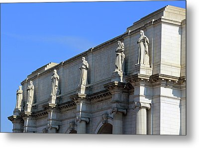 Hey Is That Joe Biden One Statue Said To Another At Union Station Metal Print