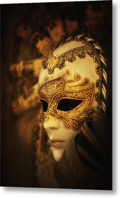 Hiding Behind The Mask Metal Print by Yelena Rozov