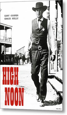 High Noon, Gary Cooper Metal Print