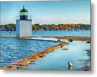 Metal Print featuring the photograph High Tide At Derby Wharf In Salem by Jeff Folger