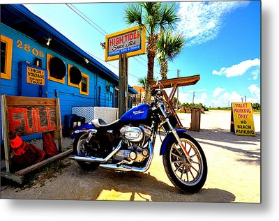 High Tides Harley Metal Print by Andrew Armstrong  -  Mad Lab Images