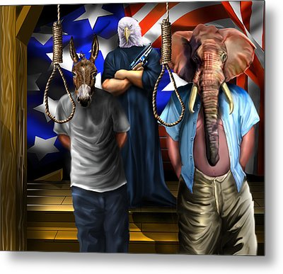 High Treason - State Of The Union-a House Divided1 Metal Print by Reggie Duffie