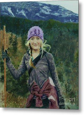 Hiking The White Mountains Metal Print