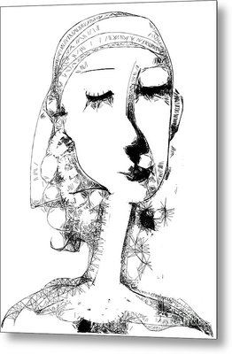 Metal Print featuring the digital art Hilda by Elaine Lanoue