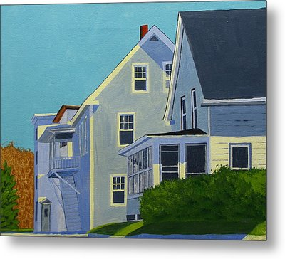 Hill Houses Metal Print by Laurie Breton