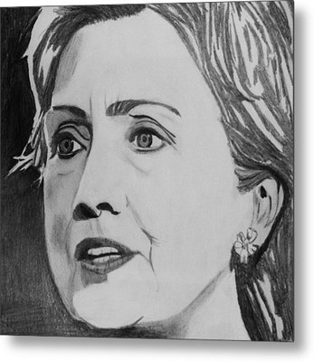 Hillary Clinton Metal Print by Kenneth Regan