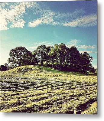 #hills #trees #landscape #beautiful Metal Print by Samuel Gunnell