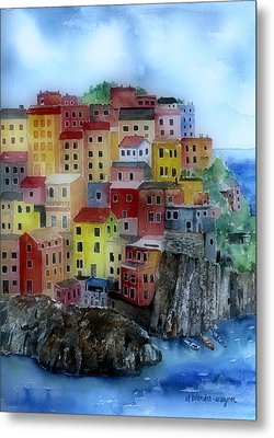 Hillside Homes Metal Print by Arline Wagner