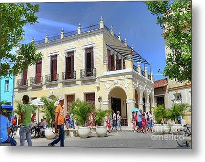 Historic Camaguey Cuba Prints Commercial Center 2 Metal Print