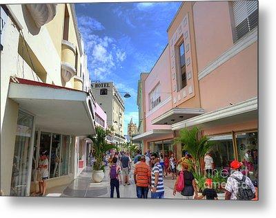 Historic Camaguey Cuba Prints Commercial Center Metal Print