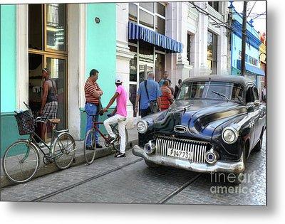 Historic Camaguey Cuba Prints The Cars 2 Metal Print