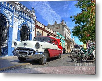 Historic Camaguey Cuba Prints The Cars Metal Print