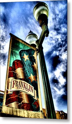 Historic Downtown Franklin Metal Print by Ione Starr