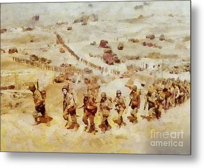 History In Color. D Day, Omaha Beach, Wwii Metal Print by Sarah Kirk