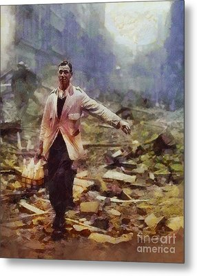 History In Color. Spirit Of The Blitz, Wwii Metal Print by Sarah Kirk