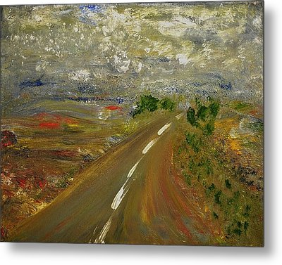 Metal Print featuring the painting Hit The Road by Evelina Popilian