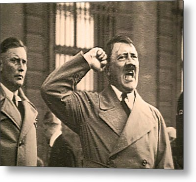 Hitler The Orator Metal Print by Al Bourassa