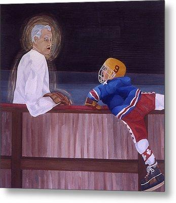 Hockey God Metal Print by Ken Yackel