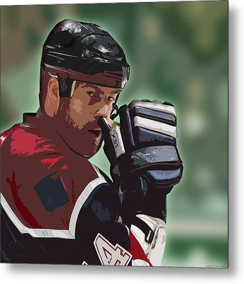 Hockey Illustration Metal Print by Lucas Armstrong