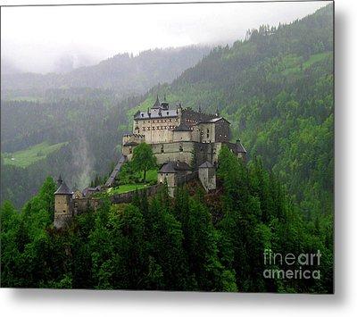 Hohenwerfen Castle Metal Print by Sheila Ping