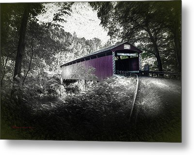 Hollingshead Bridge Metal Print