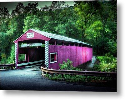 Hollingshead Coverd Bridge Metal Print by Marvin Spates
