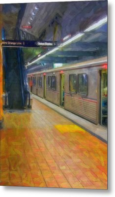 Metal Print featuring the photograph Hollywood Subway Station by David Zanzinger