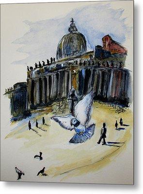 Holy Pigeons Metal Print by Clyde J Kell