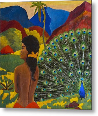 Homage To Paul Gauguin Metal Print