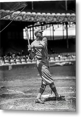 Home Run Babe Ruth Metal Print