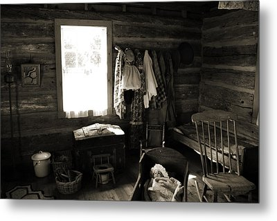Metal Print featuring the photograph Home Sweet Home Bedroom by Joanne Coyle