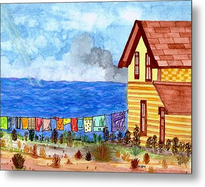 Metal Print featuring the painting Home Sweet Home by Connie Valasco