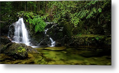 Homesite Falls Autumn Serenity Wide Metal Print