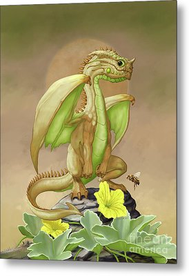 Honey Dew Dragon Metal Print by Stanley Morrison