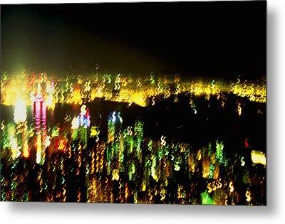 Hong Kong Harbor Abstract Metal Print by Brad Rickerby