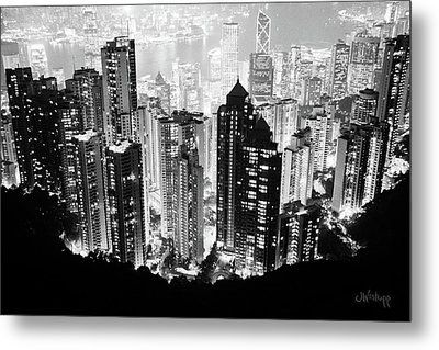 Hong Kong Nightscape Metal Print by Joseph Westrupp