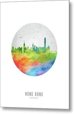 Hong Kong Skyline Chhk20 Metal Print by Aged Pixel