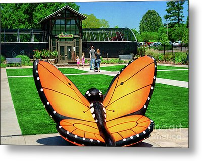Honor Heights Butterfly House Metal Print