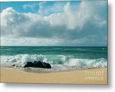 Metal Print featuring the photograph Hookipa Beach Pacific Ocean Waves Maui Hawaii by Sharon Mau